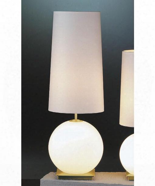 "Galileo 10"" 3 Light Table  Lamp In Satin Nickel"