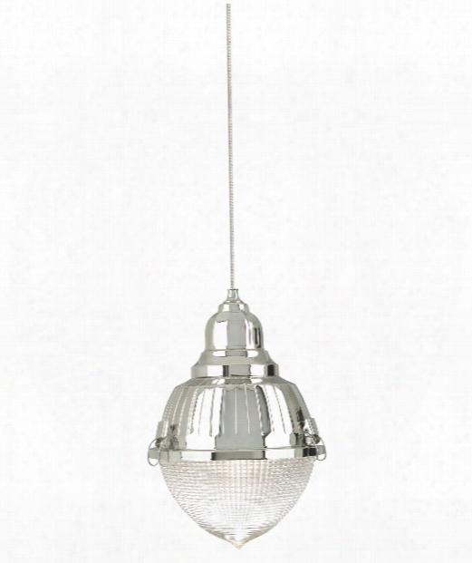"Halsted 5"" 1 Light Mini Pendant In Satin Nickel"