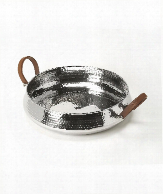 """Hors D'oeuvres 21"""" Tray In Silver"""