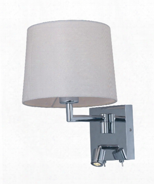 """Hotel 9"""" Led 1 Light Wall Sconce In Polished Chrome"""