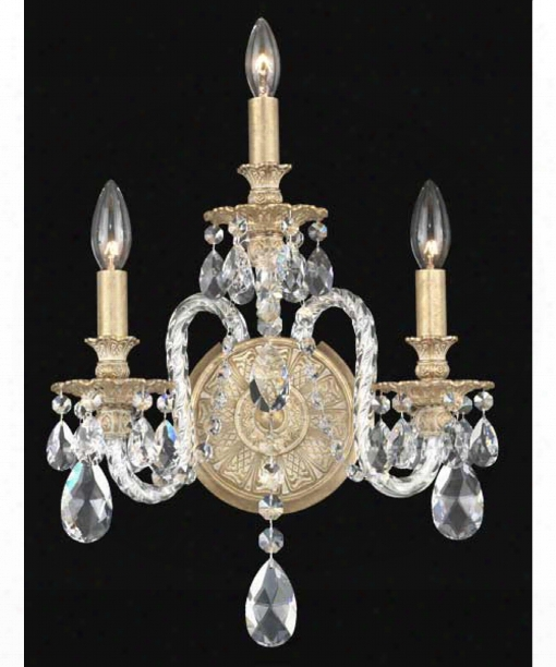 """Isabelle 19"""" 3 Light Wall Sconce In Parchment Gold"""