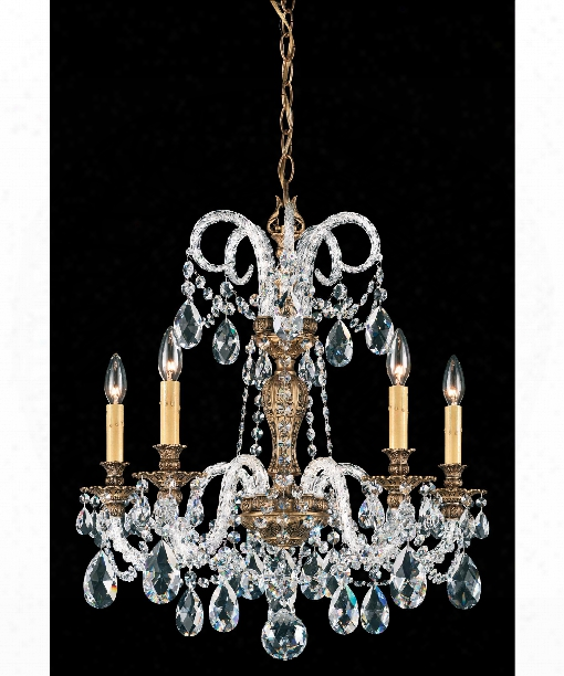 "Isabelle 24"" 5 Light Chandelier In Florentine Bronze"