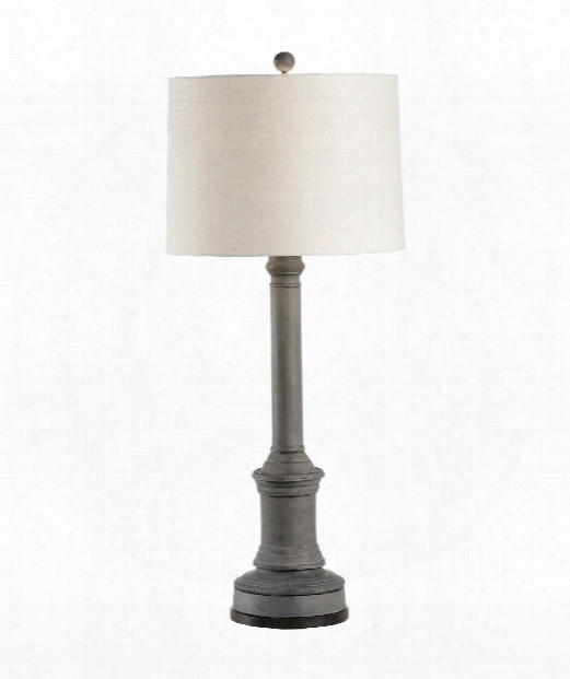 James 1 Light Table Lamp In Dark Verdi