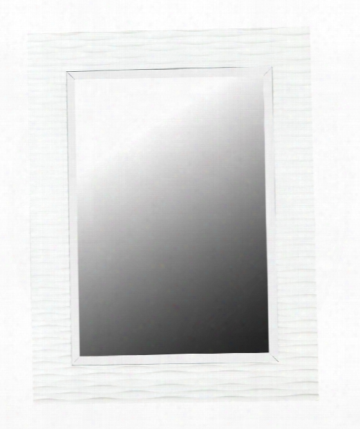 "Kendrick 30"" Wall Mirror In Gloss White"