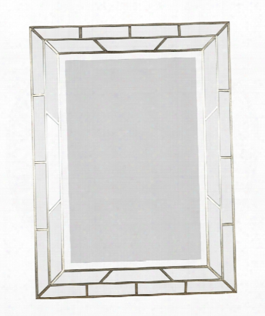 "Lens 28"" Wall Mirror In Silver"
