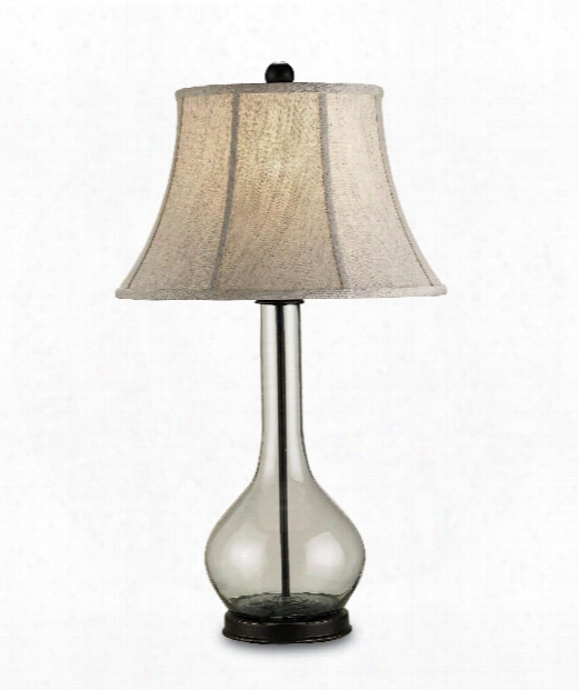"""Lipari 16"""" 1 Light Table Lamp In Bronze-recycled Glass"""