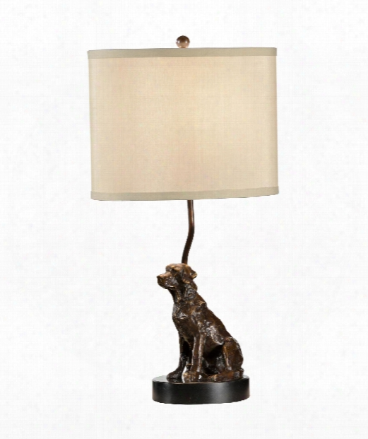 Lit Dog 1 Light Accent Lamp In Bronze With Black