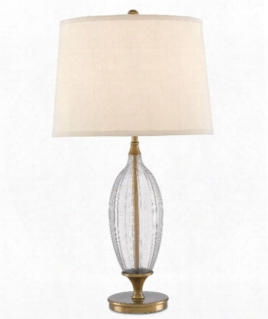 """Lourdes 16"""" 1 Light Table Lamp In Clear-coffee Bronze"""