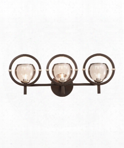 """Lunaire 23"""" 3 Light Wall Sconce In Old Bronze"""