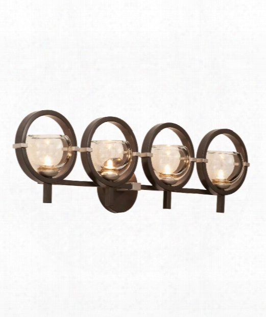 "Lunaire 31"" 4 Light Wall Sconce In Old Bronze"