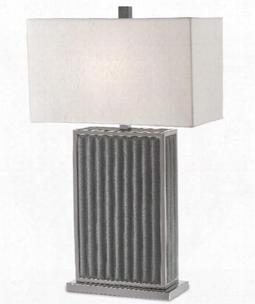 "Luxedo 18"" 1 Light Table Lamp In Gray-polished Nickel"