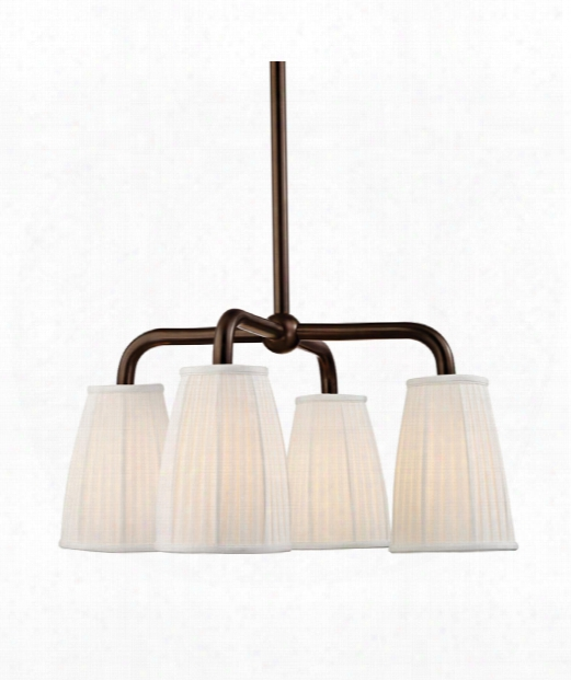 Malden 4 Light Chandelier In Distressed Bronze