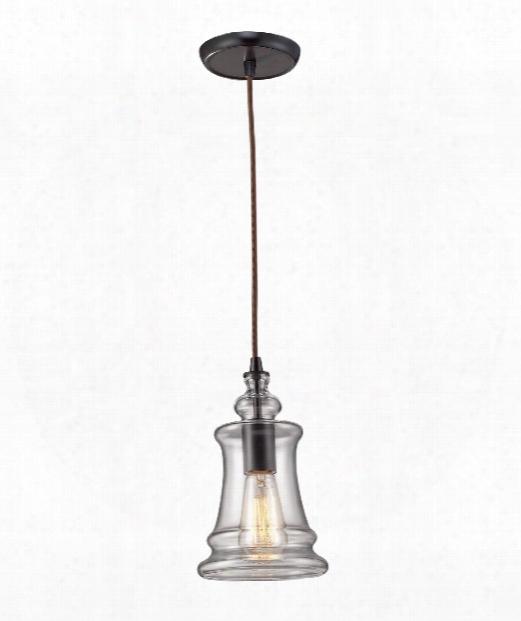 "Menlow Park 6"" 1 Light Mini Pendant In Oiled Btonze"