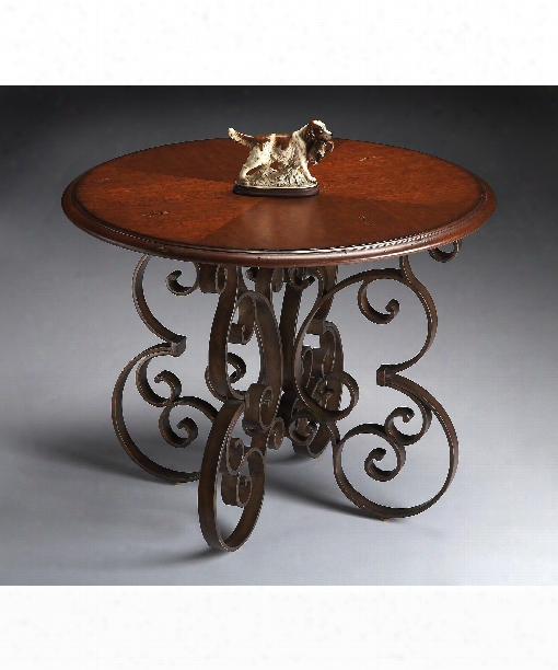 Metalworks Accent Table In Wood And Metal