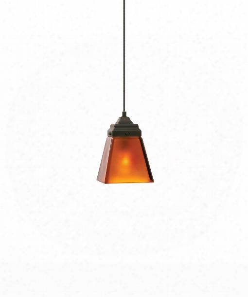 "Mission 4"" 1 Light Mini Pendant In Satin Nickel"