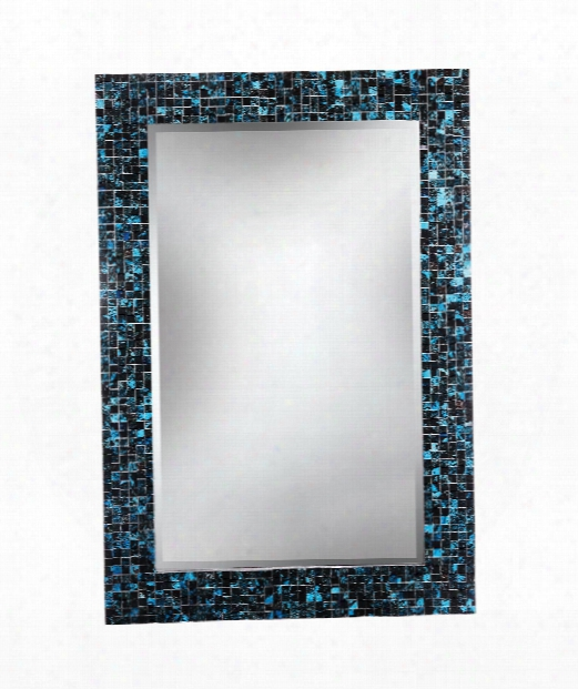 "Morgen 28"" Wall Mirror In Multi Colored Mosaic"