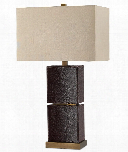 "Pelle 18"" 1 Light Table Lamp In Wicked Brown-brass"
