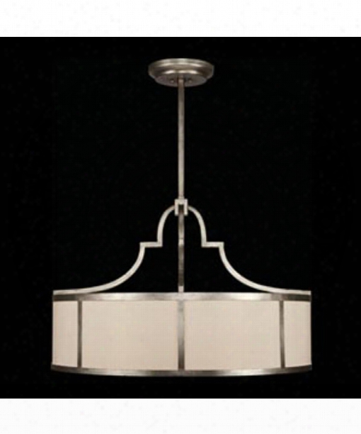 "Portobello Road 48"" 8 Light Large Pendant In Platinized Silver"
