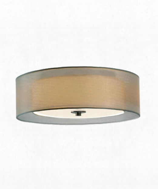 "Puri 16"" 2 Light Large Pendant In Satin Nickek"