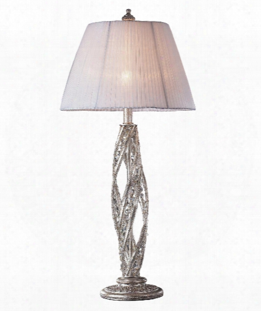 "Renaissance 15"" 1 Light Table Lamp In Sunset Silver"