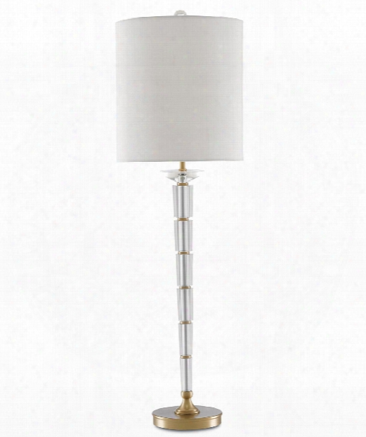 "Retreat 11"" 1 Light Table Lamp In Clear-antique Brass"