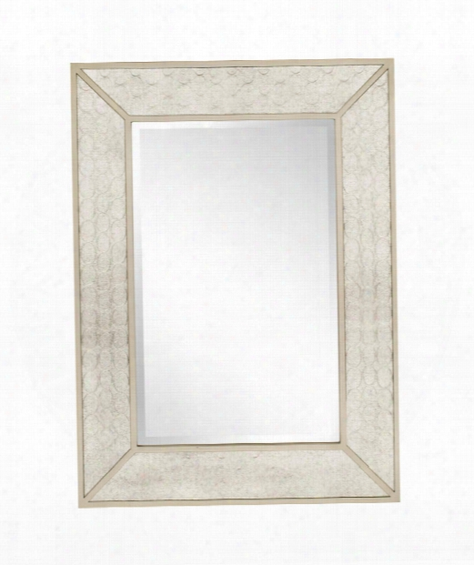 "Rockefeller 35"" Wall Mirror In Silver"