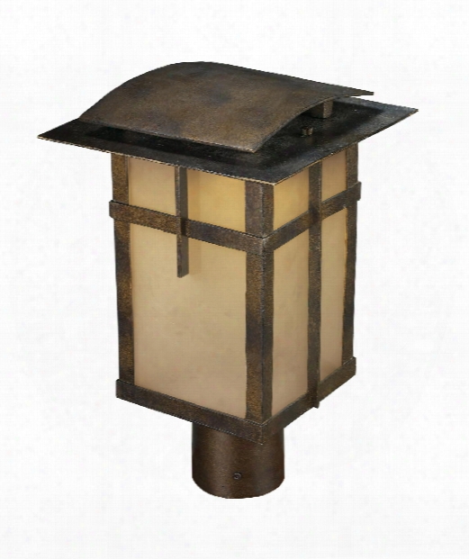"San Fernando 9"" Led 1 Light Outdoor Post Lamp In Hazelnut Bronze"