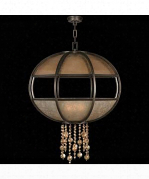 "Singapore Moderne 42"" 8 Light Large Pendant In Brown Patinated Bronze"
