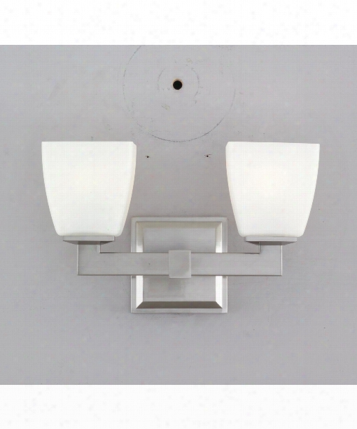 "Soho 12"" 2 Light Bath Vanity Light In Satin Nickel"
