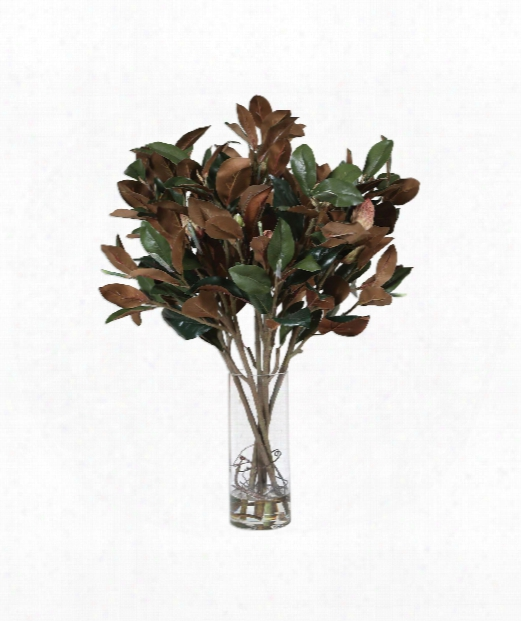 """Southern Magnolia 27"""" Other Table Accent In Green-copper"""