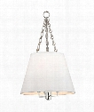 "Burdett 15"" 4 Light Mini Pendant in Polished Nickel"