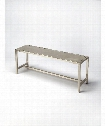 "Butler Loft 44"" Bench in Silver"