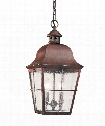"""Chatham 9"""" LED 2 Light Outdoor Hanging Lantern in Silver"""