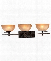 "Lineage 28"" 3 Light Bath Vanity Light in Iron Oxide"