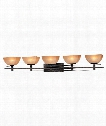 "Lineage 48"" 5 Light Bath Vanity Light in Iron Oxide"