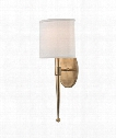 "Madison 7"" 1 Light Wall Sconce in Aged Brass"