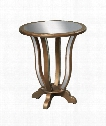 """Manama 24"""" End Table in Antique Gold"""