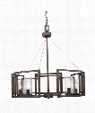 "Marco 25"" 5 Light Chandelier in Gunmetal Bronze"