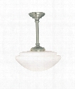 "Monroe 14"" 1 Light Mini Pendant in Polished Nickel"