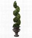 """Preserved Boxwood 13"""" Other Home Accent in Aged Black-Rust Brown Glaze"""
