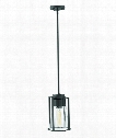 "Refinery 8"" 1 Light Mini Pendant in Black"