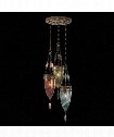 "Scheherazade 17"" 3 Light Multi Pendant Light in Aged Dark Bronze"