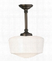 "Tavern 14"" 1 Light Mini Pendant in Polished Nickel"