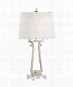 Zada 1 Light Table Lamp in Silver Leaf