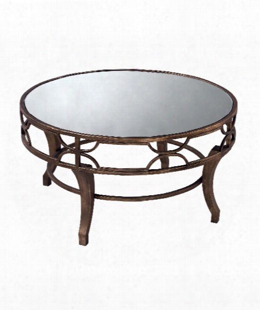 "Treviso 36"" Coffee Table In Antiqued Gold"
