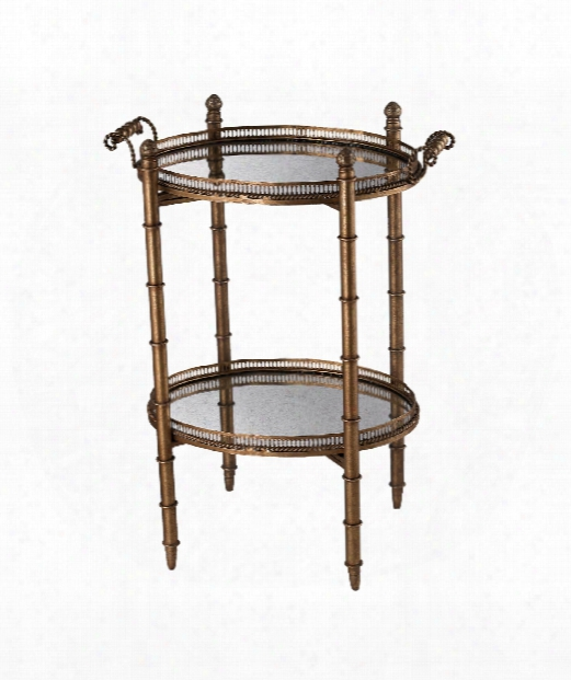 """Tyrella 23"""" Accent Table In Painted Gold"""