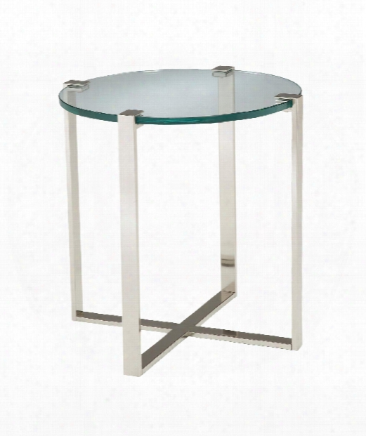 """Uptown 25"""" Accent Table In Polished Nickel"""
