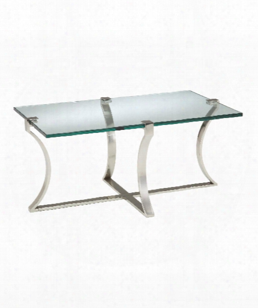 """Uptown 31"""" Coffee Table In Polished Nickel"""