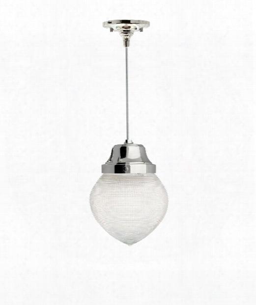 """Van Buren 6"""" 1 Light Mini Pendant In Polished Nickel"""
