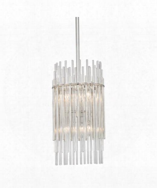 "Wallis 11"" 6 Light Mini Pendant In Polished Nickel"